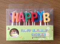 Birthday cake candle letters