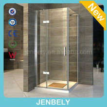 8mm Luxus Frameless Glass Hinged shower door direct