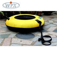 Popular PVC colorful inflatable water slide round swim ring for kids and adult