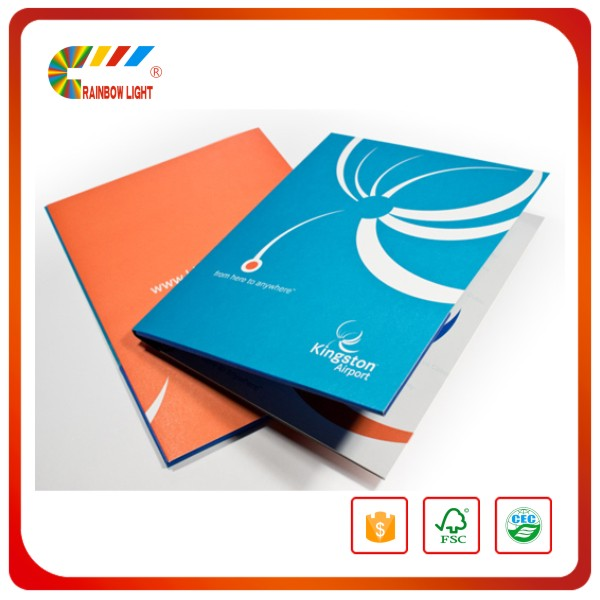 High Quality China Printer manufacture printing Menu Cover resturant menu folder with pocket for a business card