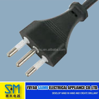Good quality Power extension cord with flat plug for Italy
