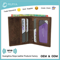 Genunine Leather Wallet Mens Small Slim Bifold Wallet Credit Card Holder