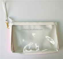 custom vinyl window pencil pouch cosmetic pouch