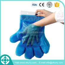 Custom printed paper card disposable pe gloves