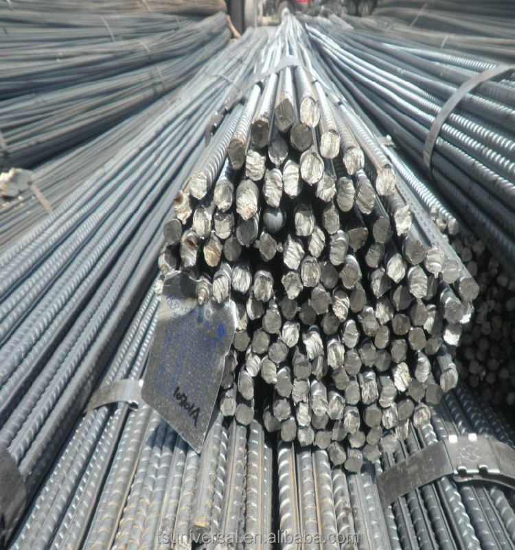 BS4449 Grade steel rebar, deformed steel bar, iron rods for construction 6m or 12m