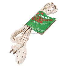 White Color American Indoor Extension Cord Wire with Plug and Socket