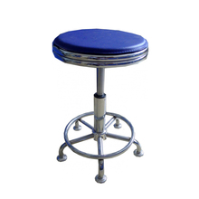 Gas lift height adjustable round PU seat laboratory use stool for school