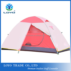 Pink Camping Tent For Outdoor Sports Hiking Picnic