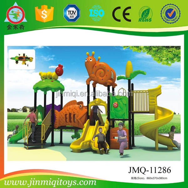 children outdoor playground tunnel slides,kids plastic slide play set, big toy playground equipment
