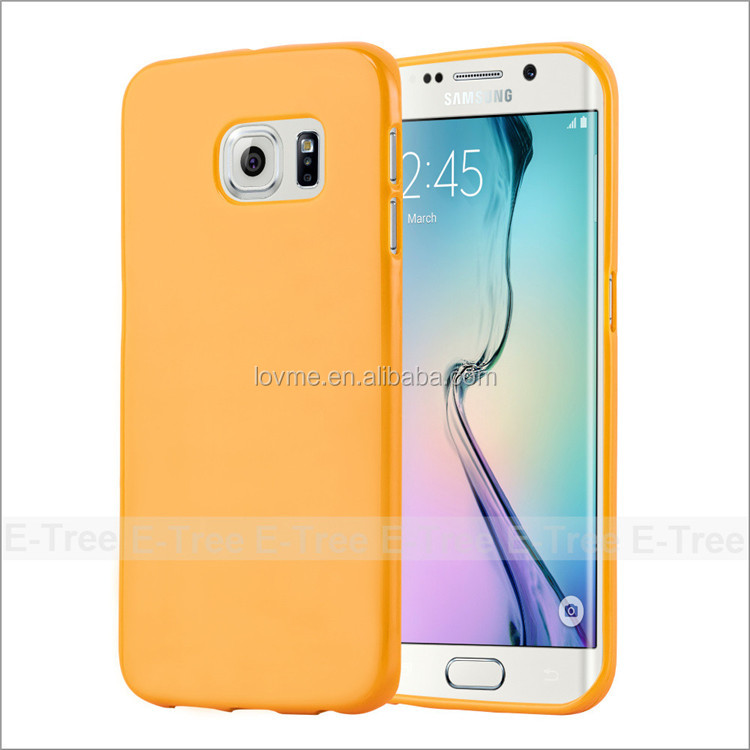 Jelly Glossy Silicon Tpu Cover Case For Samsung Galaxy S6 edge Phone case