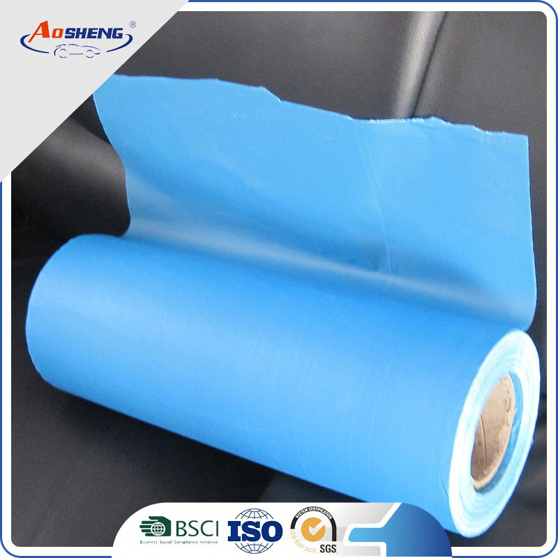 blue paper similar plastic masking construction sheeting film