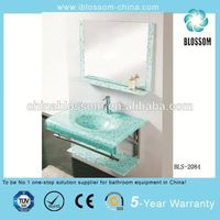 glass washbasin with stand
