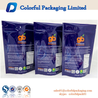 Colorful printing plastic packets doypack bags stand up zip lock bag plastic bags 1kg