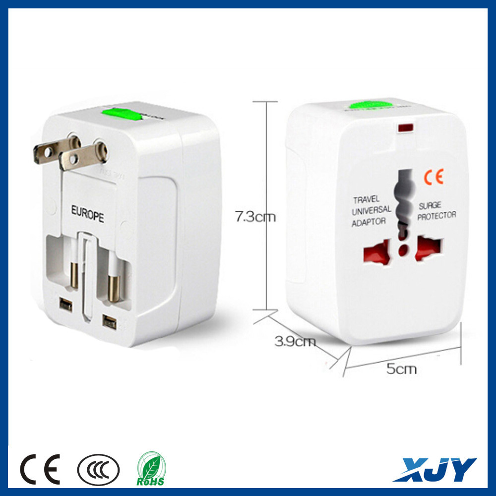 XINJIAYE wholesale multiple Adapter plug travelling plug adapter US to Eur plug