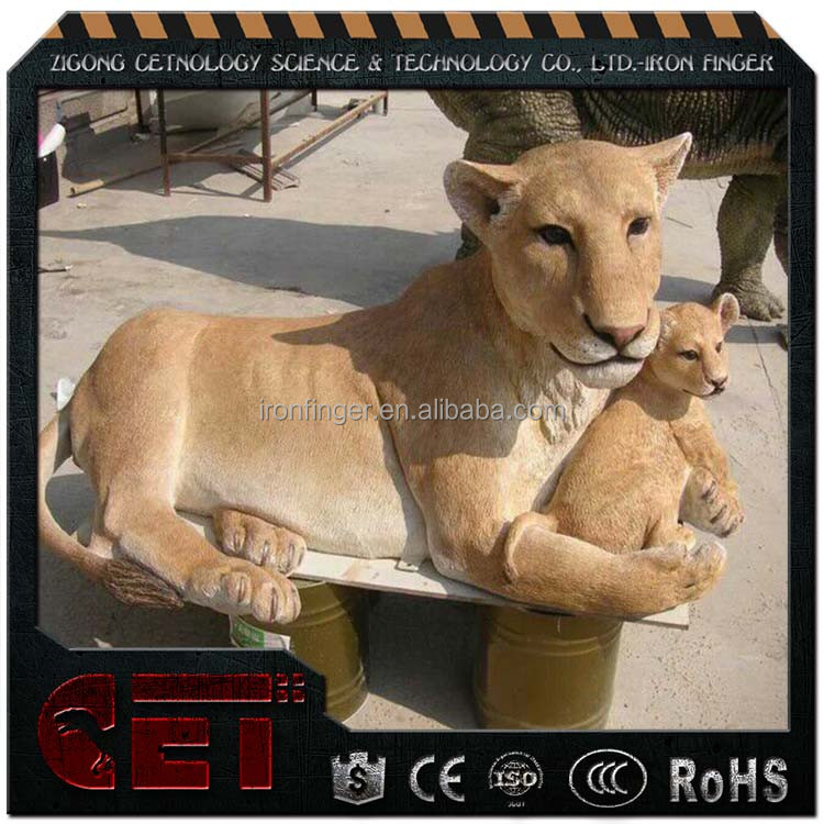 CET-A-936 metal animal Figurine animatronic animals lions for sale