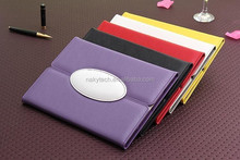 blank plain colorful PU stand leather case for Samsung
