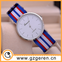 New products factory direct fashion watch, nylon watch strap, watch geneva