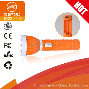 5AA Dry Battery and Rechargeable LED Torch Flashlight