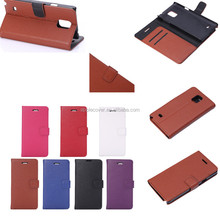 Flip PU leather Litchi patterns Wallet Case for samsung Note 4 import mobile phone accessory