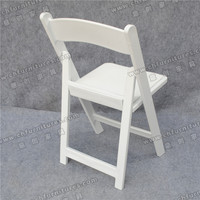 White padded resin folding chair YC-FC001