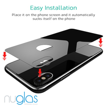 Nuglas 0.3mm 9H Premium 4D Curved Tempered Glass Screen Protector for Apple iPhone X HD Toughened Protective Film