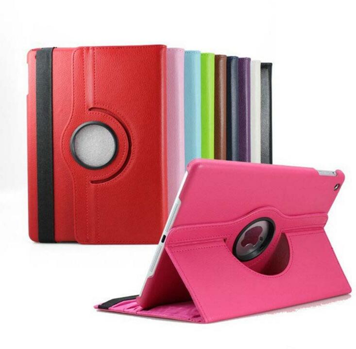 New Smart Case Cover 360 Rotating For iPad 2 Luxury PU Leather with stand