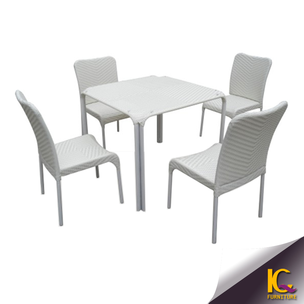 Popular design best price outdoor rattan garden furniture set cafe table and chair used