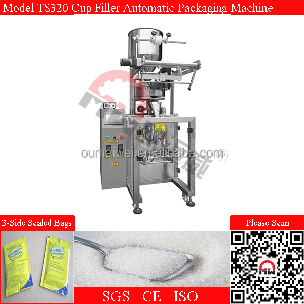 3-Side Sealed Sachet Cup Filler Spice Automatic Packing Machine