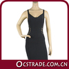 2014 simple design hot black evening dress designer arabic