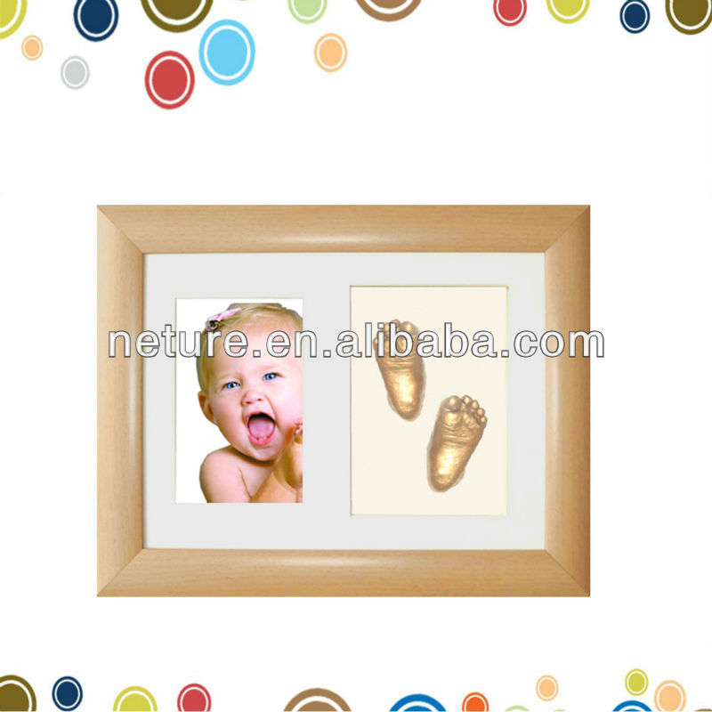 Best selling foot cast frame baby gift set