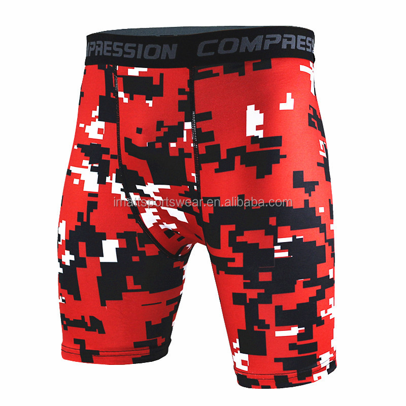 custom sublimated spandex mens gym shorts wholesale