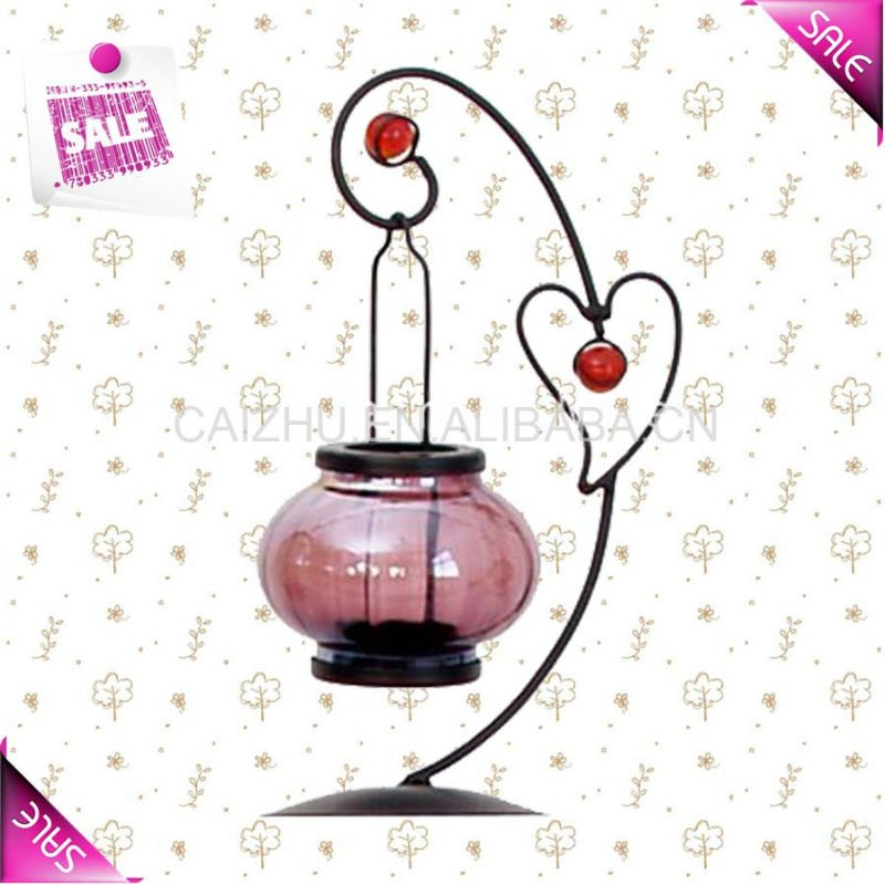2016 New design stainless steel metal elegant candle holder decoration