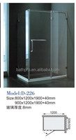 8mm tempered glass sliding door hotel style shower room (D226)
