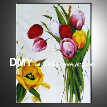 beautiful flower with frame home decor wall art oil painting