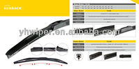Automobile flat windshield wiper blade