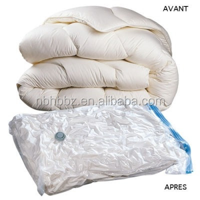 Space Saving Transparent Compressed Vacuum Bag Storing Clothing and Bedding For Season Storage
