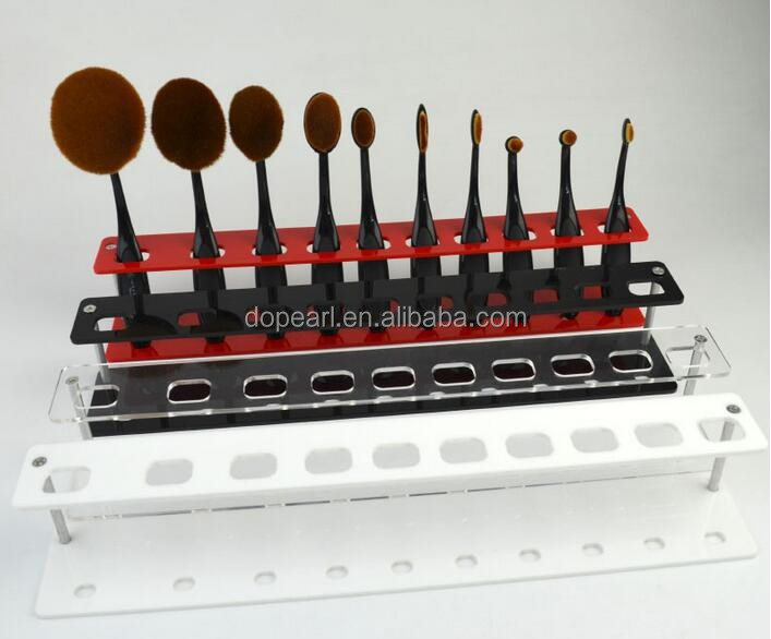10 pieces tooth shaped makeup brush holder arylic brush rack
