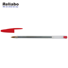 Reliabo Promotion Slim Portable Durable Red Ink Plastic Ball Pen For Homework Correcting
