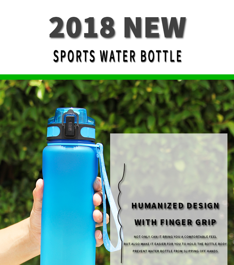 Mlife New arrival grey frosted 1000ml time marker plastic sport drinking bottle