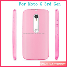 TPU Gel Rubber Soft Skin Protective Case Cover For Motorala Moto G 3rd Generation