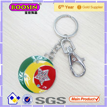 Round Shape Moon and Star Mirror Keychain #16049