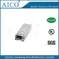 Free Sample RoHS press fit connector cage for single sfp module