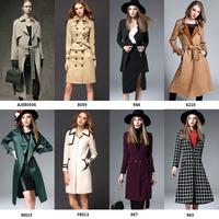 guangzhou factory korean style women clothing long wool winter coat