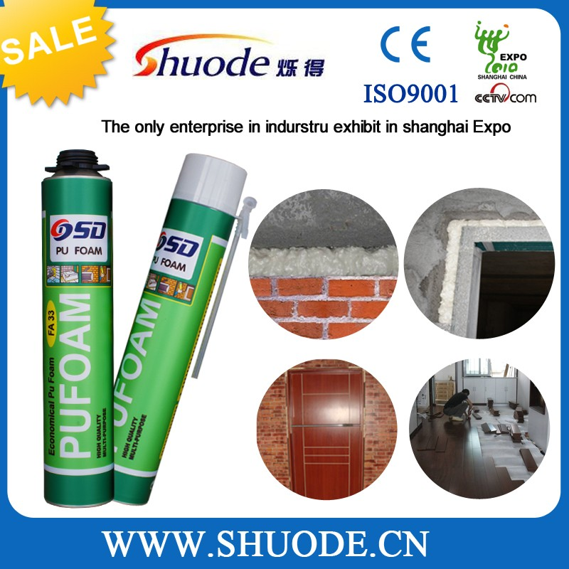 long time using polyurethane sealant manufacture joine mixure 300ml pu foam