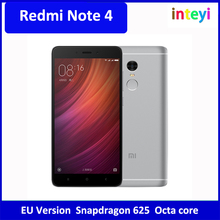 "[International version] Redmi note 4 xiaomi redmi note4 5.5"" EU version mi smart phone Snapdragon 625 Octa core Finger print"
