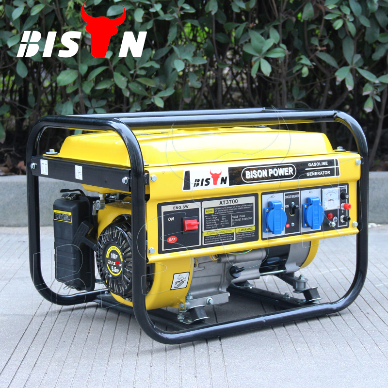BISON (CHINA) BS3000H 2.5KW 2.5KVA Hot Type Actual Output Power 1 Year Warranty Gasoline Generator Set Series