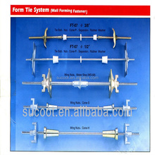 Concrete Wall Forming Formwork Tie Rod System, Formwork parts