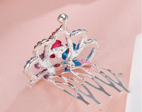 Hair inserted four teeth Phoenix hair comb crown hairpin crystal hair combs