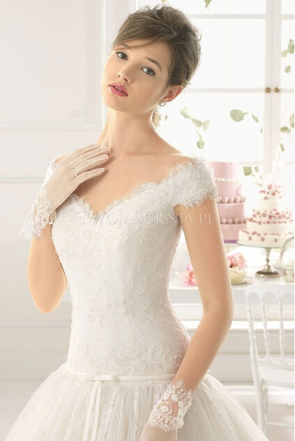 white deep v neck lace ball gown real sample wedding dresses pictures