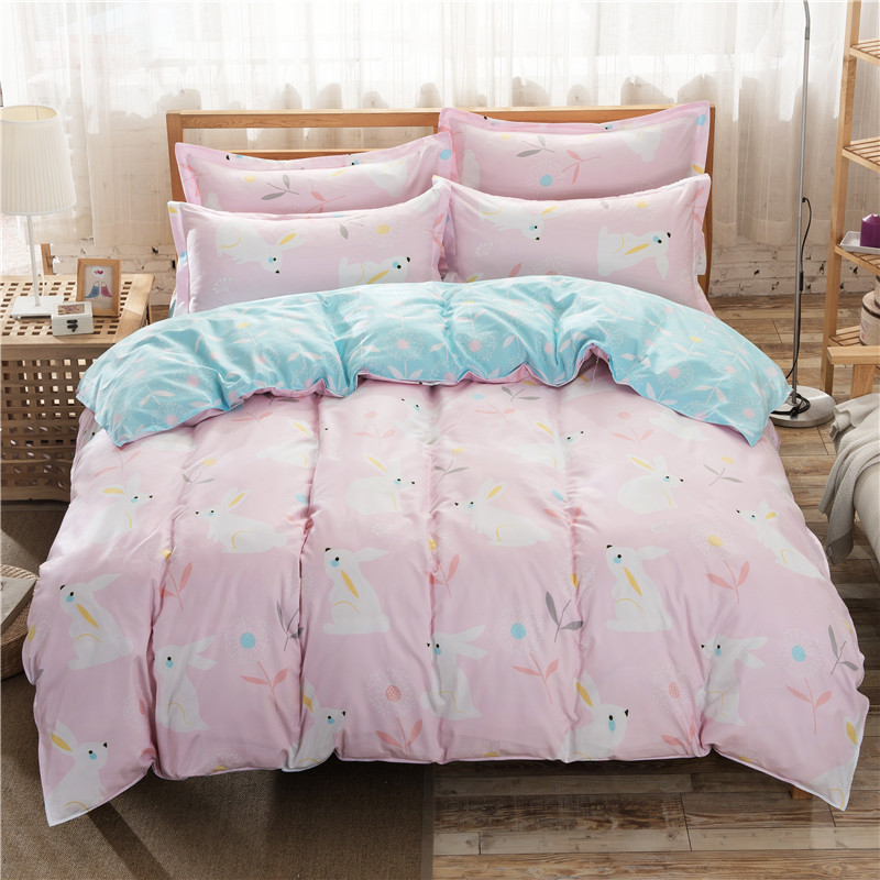 polyester animal printed soft polyester bedding set, bed cover wholesale